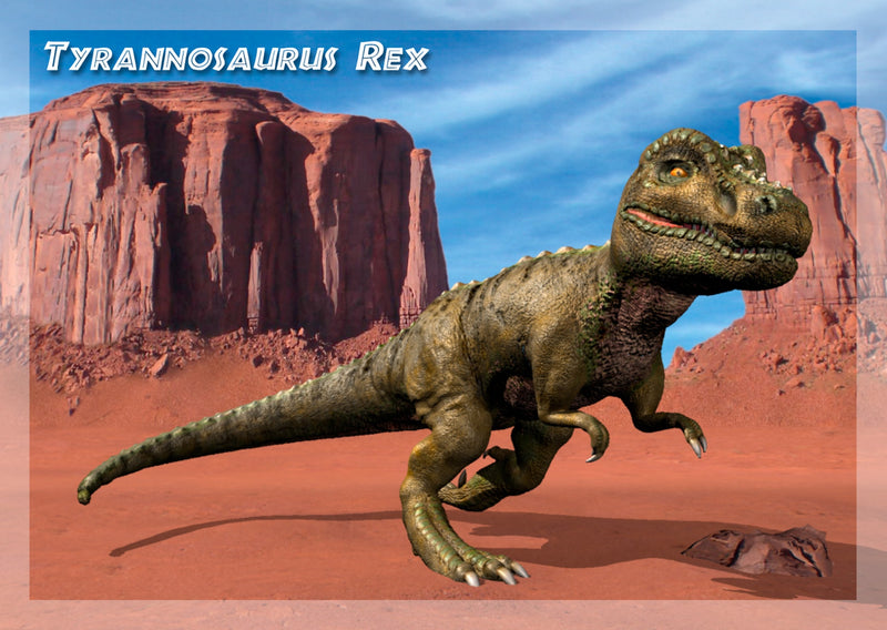 Cover of Tyrannosaurus-3D-Greeting-Card-
