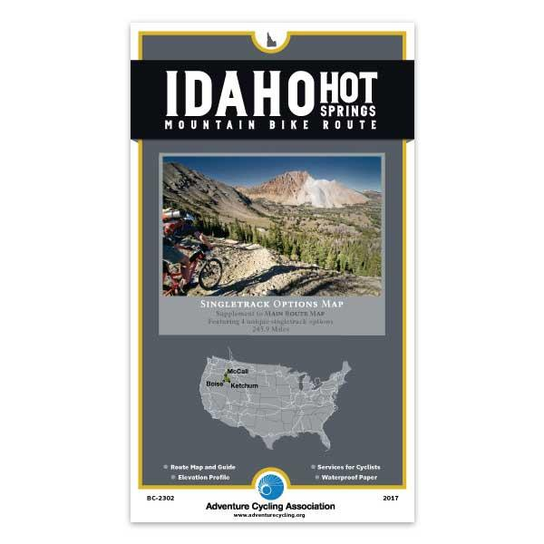 Cover of Idaho Hot Springs Mountain Bike Route Singletrack Options Map
