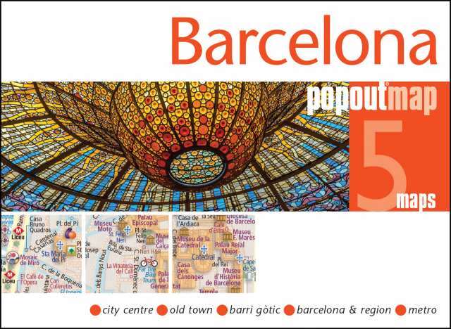 Cover of Barelona, Spain PopOut 5 Maps