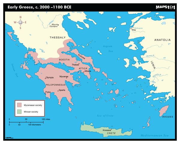 Early Greece, c. 2000-1100 BCE