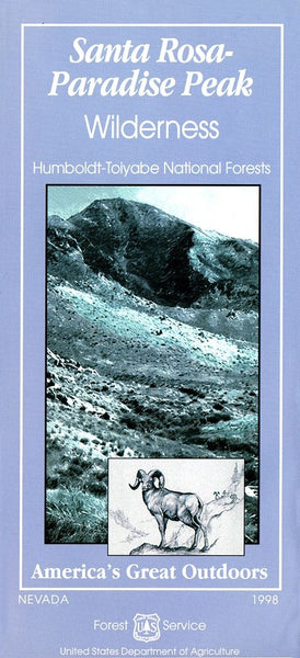Cover of Humboldt-Toiyabe National Park Map: Santa Rosa Paradise Peak Wilderness by U.S. Forest Service