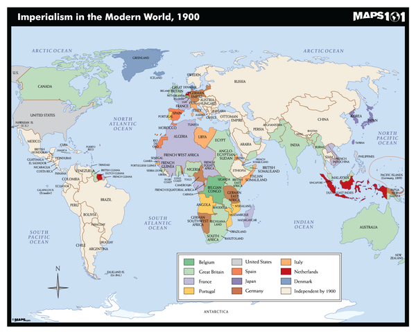 Imperialism in the Modern World, 1900 Map