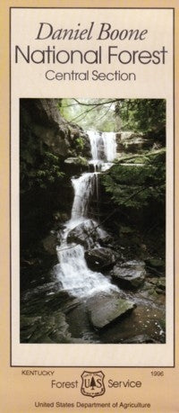 Cover of Daniel Boone National Forest Map by U.S. Forest Service