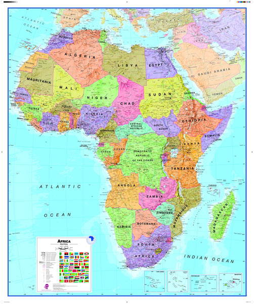 Africa Wall Map , Political