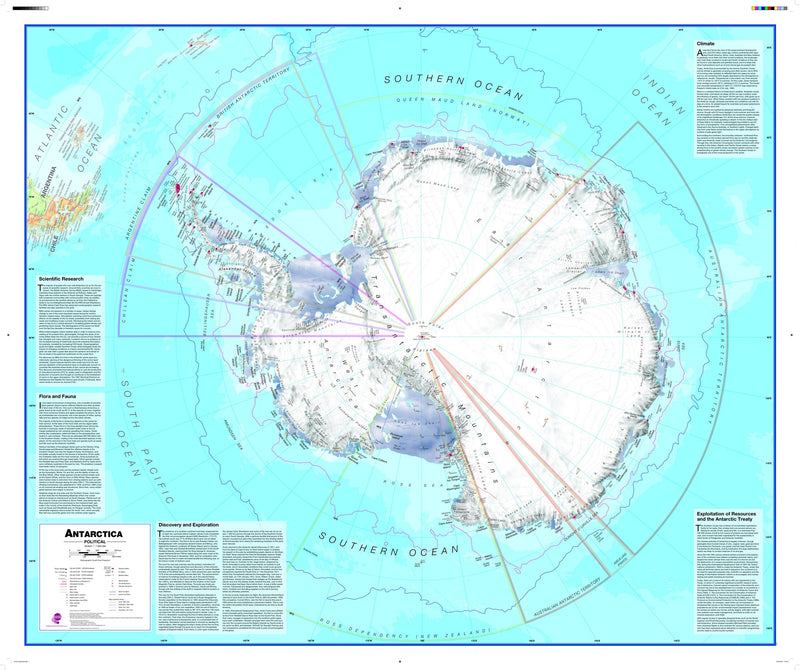 Antarctica Wall Map , Political