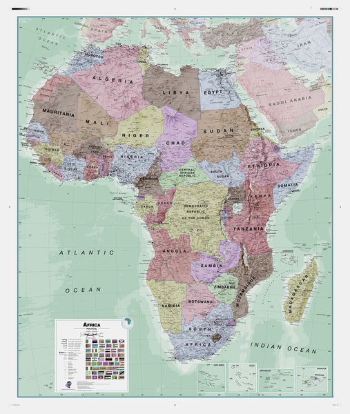 Executive Africa , Political Wall Map