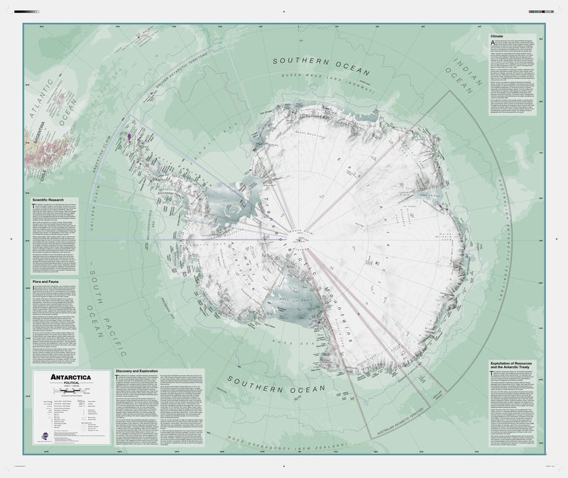 Executive Antarctica , Political Wall Map