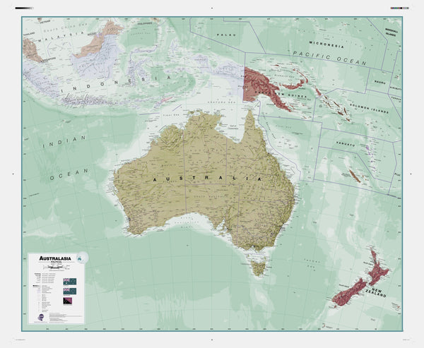 Executive Australasia , Political Wall Map