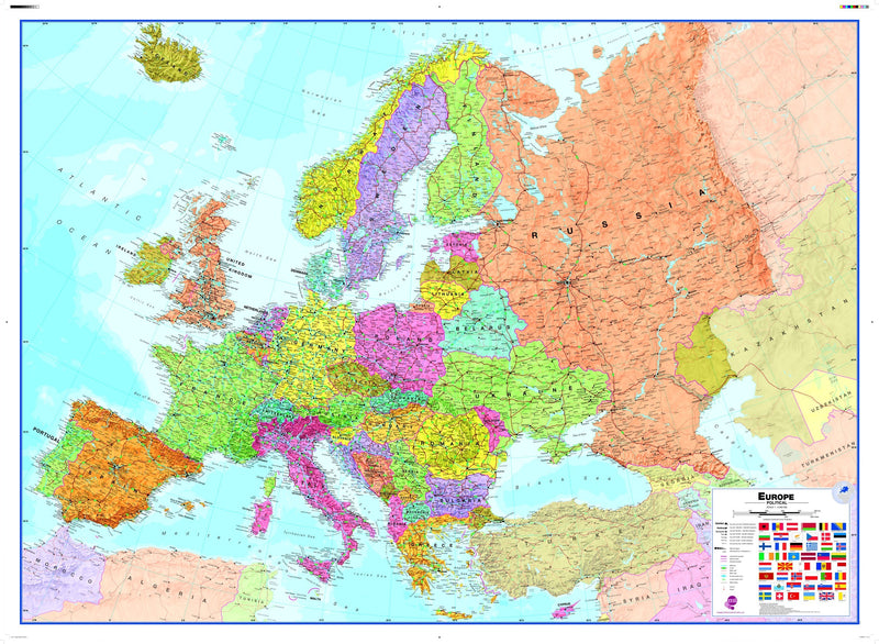 Huge Europe Wall Map , Political