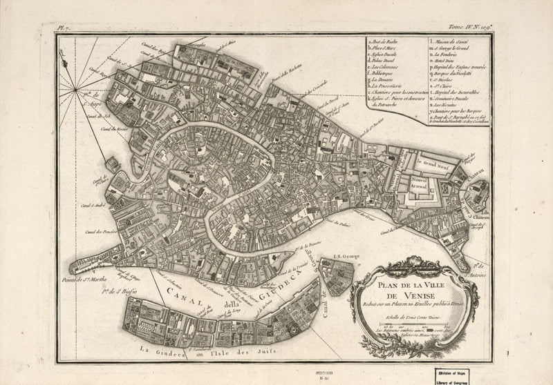 Plans of Venice Wall Map