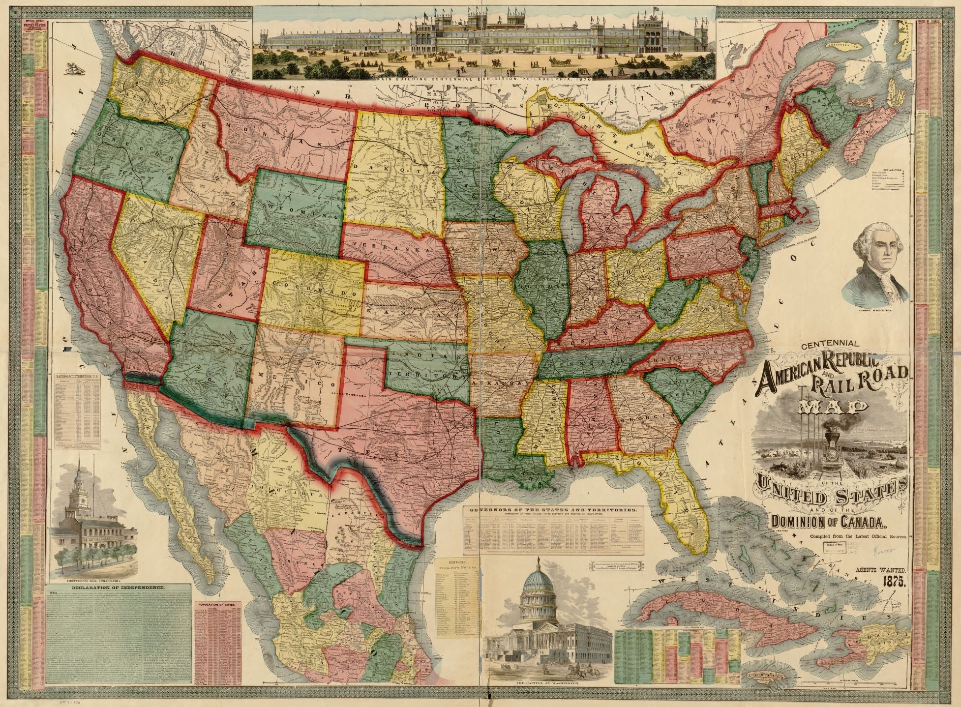 Railroad map of the United States and of the Dominion of Canada