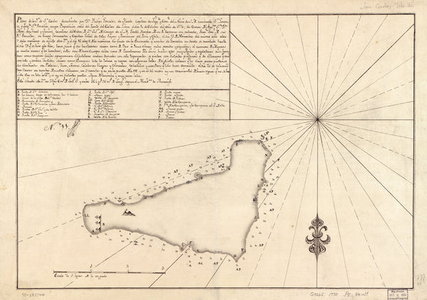 Antique Historical Easter Island Map From 1770