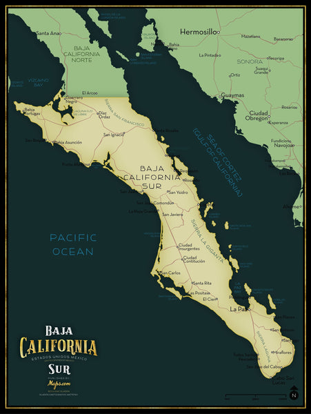 Baja California Sur Limited Edition Map