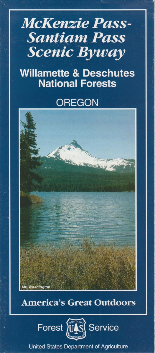 Cover of Williamette & Deschutes National Forests Map by U.S. Forest Service