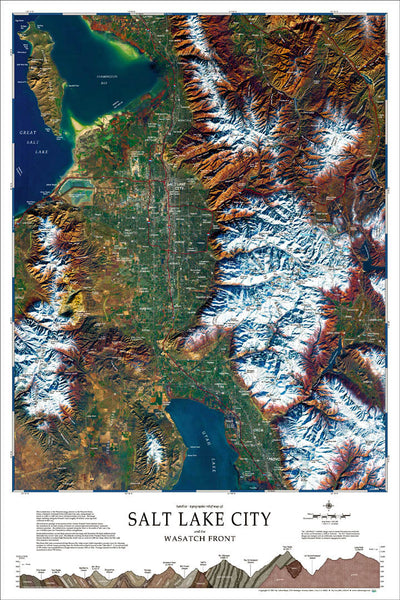 Cover of Salt Lake City and the Wasatch Front wall map