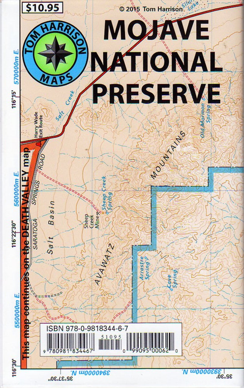 Mojave National Preserve recreation map