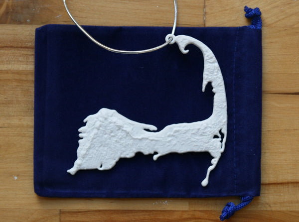 3-D Christmas Tree Ornament Of MA - Cape Cod