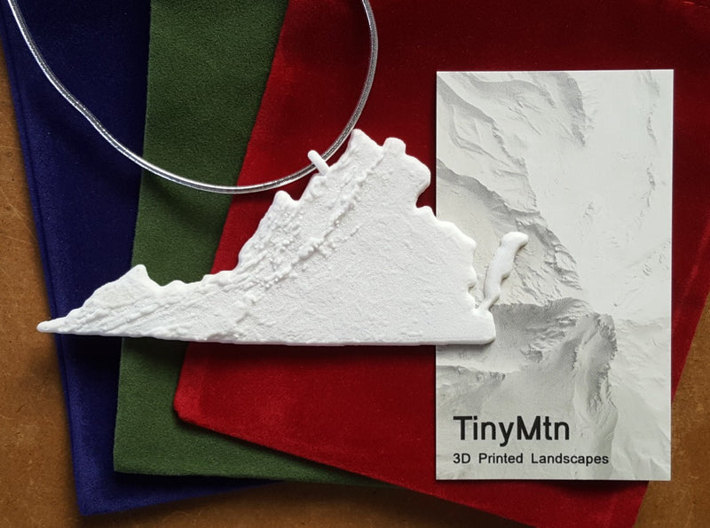 3-D Christmas Tree Ornament Of Virginia