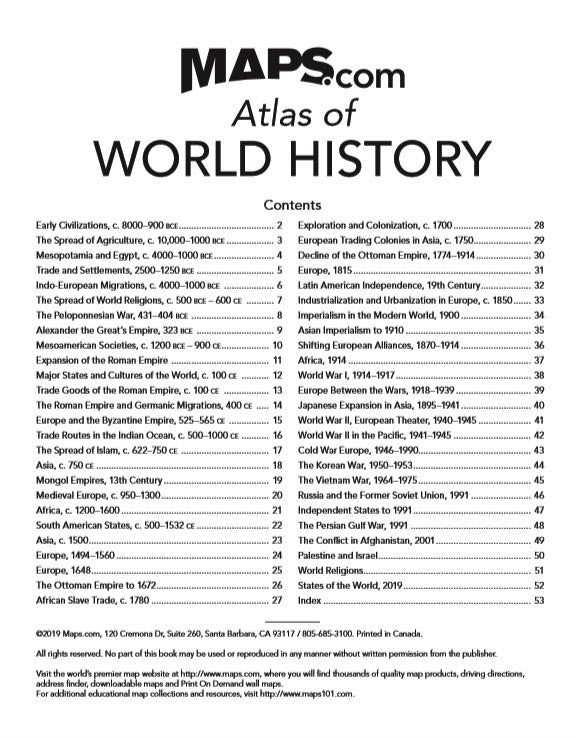 Maps.com World History Atlas - Out of Stock