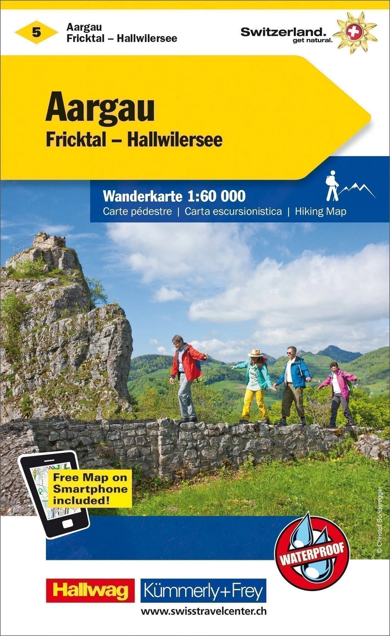 Cover of Aargau : Switzerland Hiking Map #5 by Kummerly + Frey