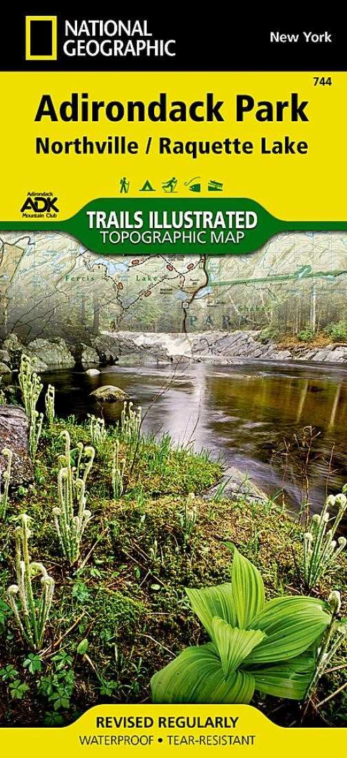 Adirondack Park, Northville and Raquette Lake, Map by National Geographic Maps
