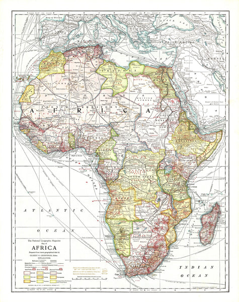 Africa Map 1909