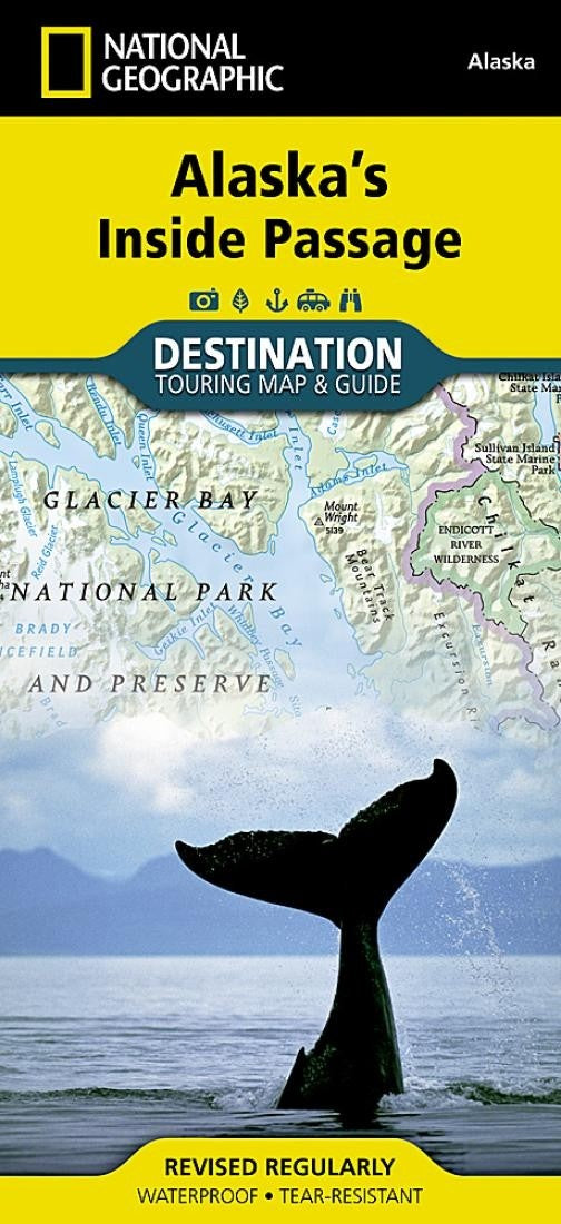 Alaska's Inside Passage Destination Map by National Geographic Maps