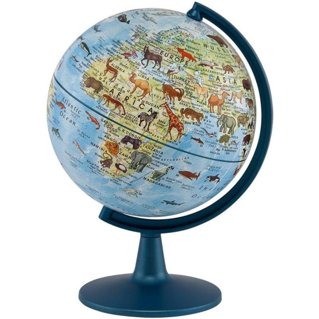 Animals of the World Globe, 6 inch