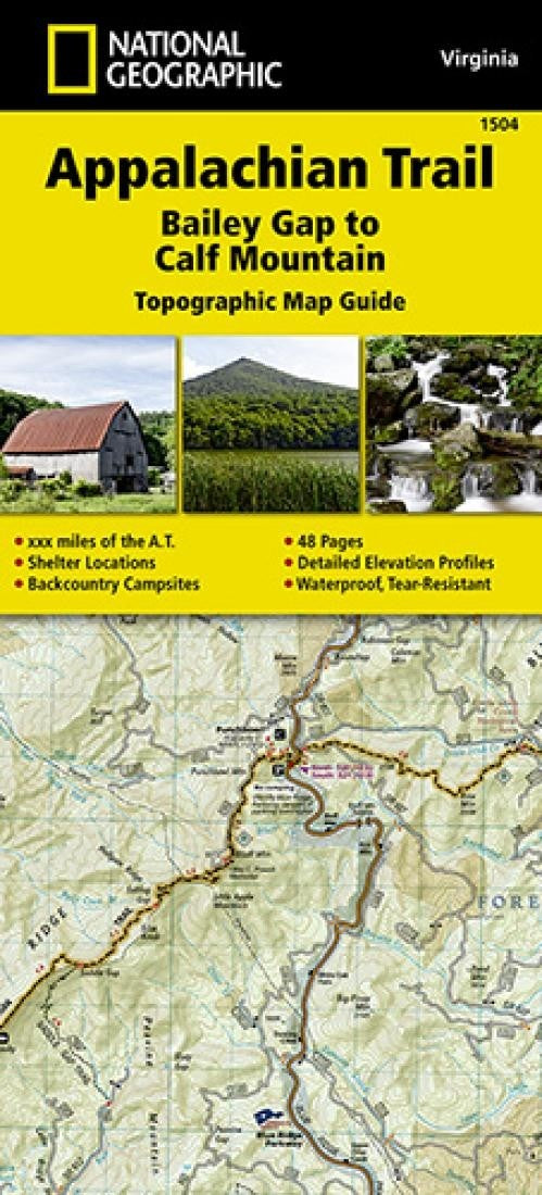 Appalachian Trail Topographic Map Guide, Bailey Gap to Calf Mountain by National Geographic Maps