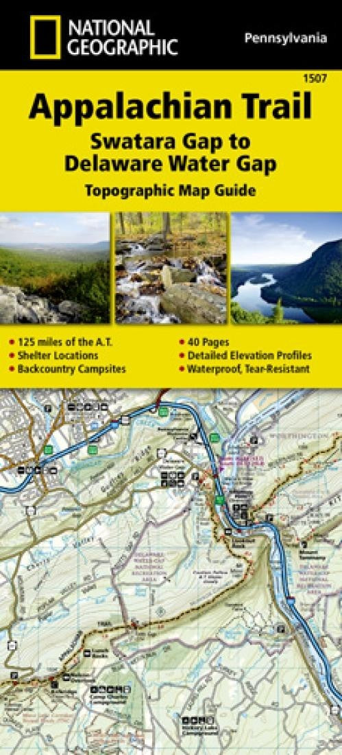Appalachian Trail Topographic Map Guide, Swatara Gap to Delaware Water Gap by National Geographic Maps
