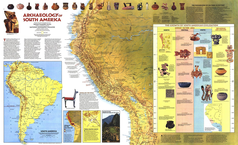 Archaeology Of South America Map 1982
