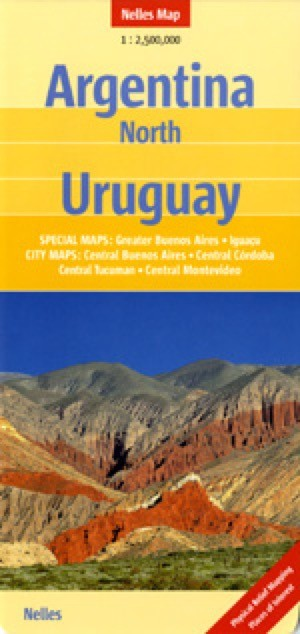 Argentina North, Uruguay Travel Map