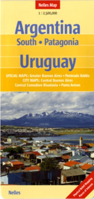 Argentina South, Patagonia Travel Map