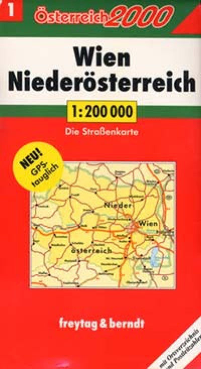 Austria, Northern Travel Map