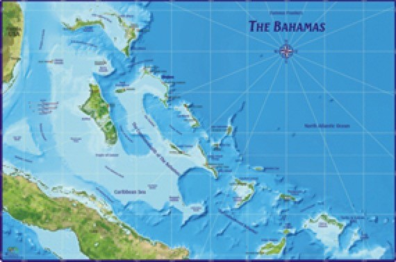 Bahamas Wall Map