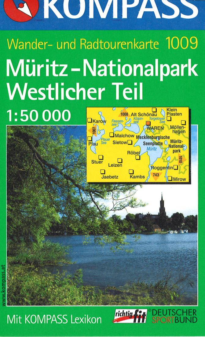 Cover of Muritz National Park Hiking Map By Kompass