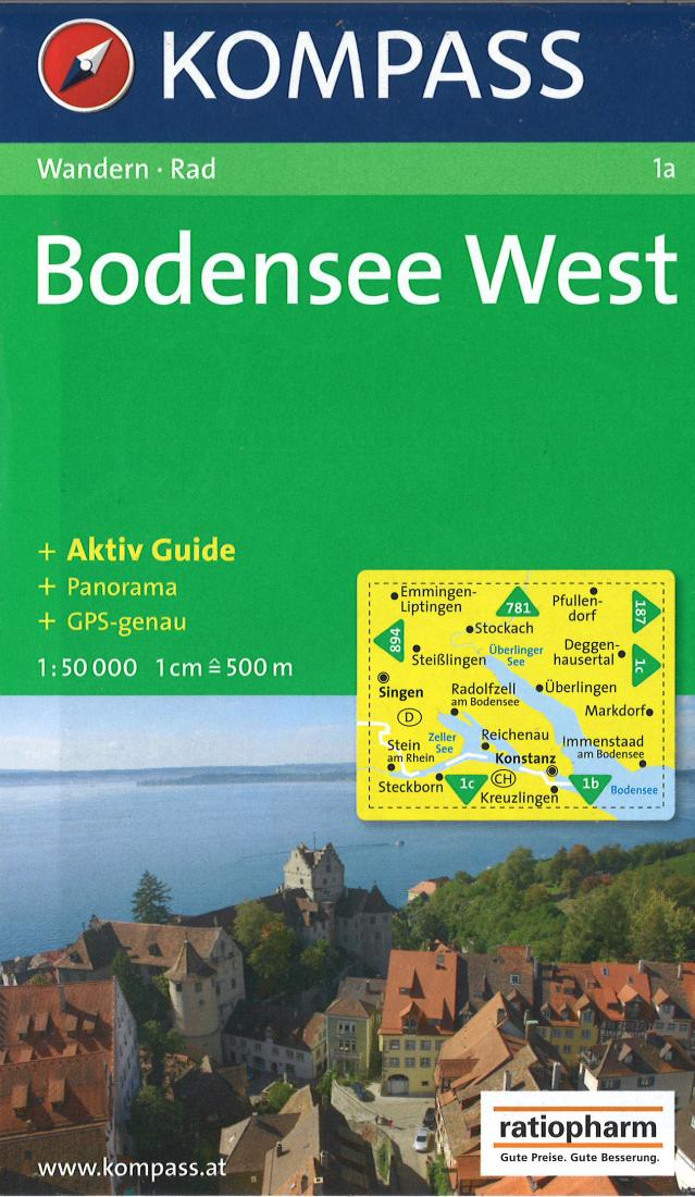 Cover of Bodensee West Hiking Map By Kompass