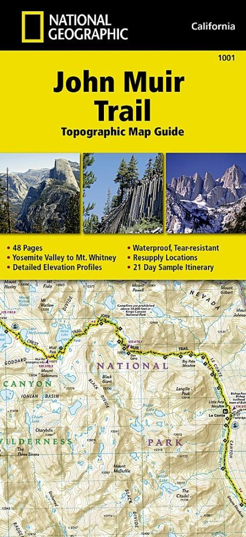 John Muir Trail : topographic map guide by National Geographic
