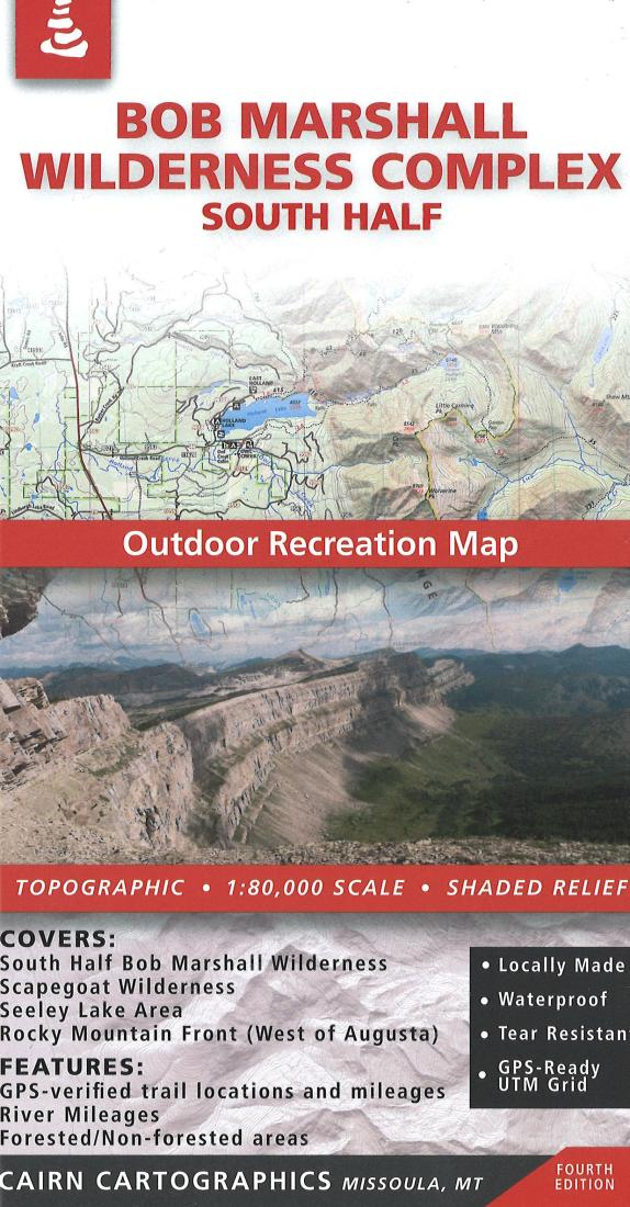 Cover of Bob Marshall Wilderness : South Half Outdoor Recreation Map  By Cairn Cartographics