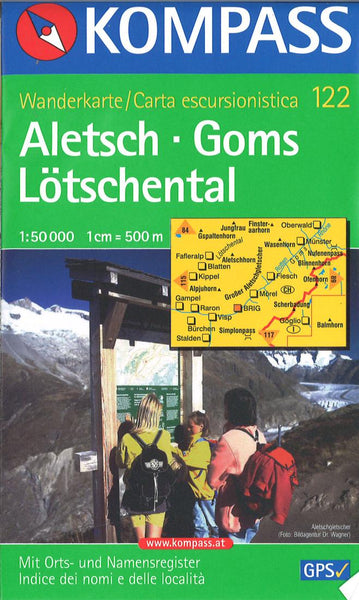 Cover of Aletsch - Goms - Lotschental Hiking Map By Kompass