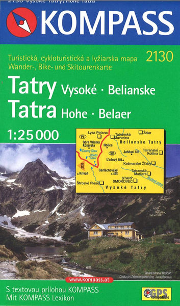 Cover of Hohe Tatra-Vysoke Tatry Hiking and Cycling Map By Kompass