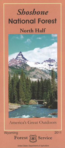 Cover of Shoshone National Forest North Half Map by U.S. Forest Service