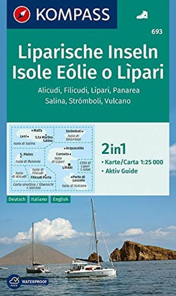 Cover of Isola Eolie o Lipari Hiking Map By Kompass