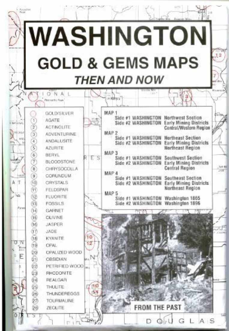 Cover of Washington, Gold and Gems, 5-Map Set, Then and Now