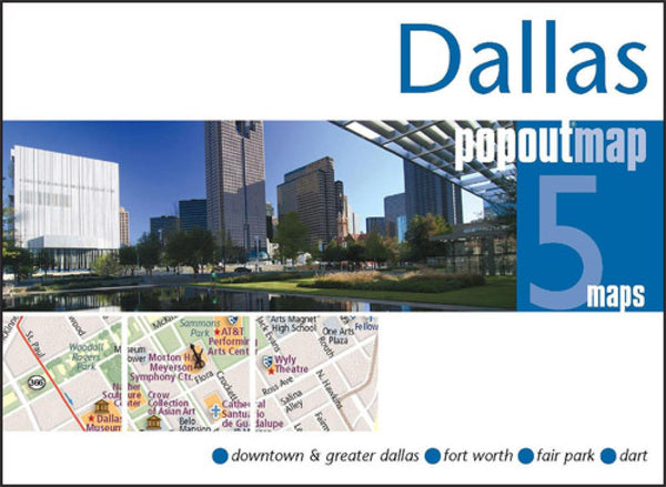 Cover of Dallas, Texas, PopOut Map