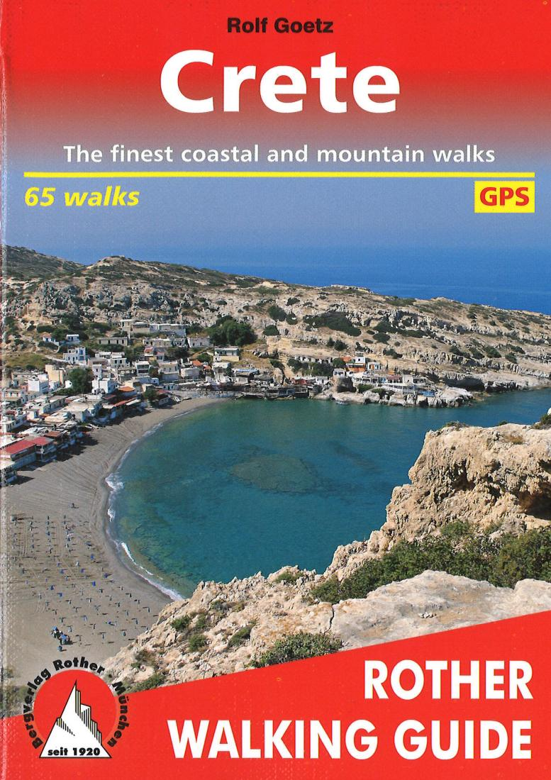 Cover of Crete, Walking Guide by Rother Walking Guide