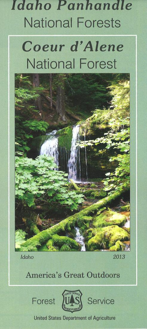 Cover of Coeur d'Alene National Forest Map by U.S. Forest Service