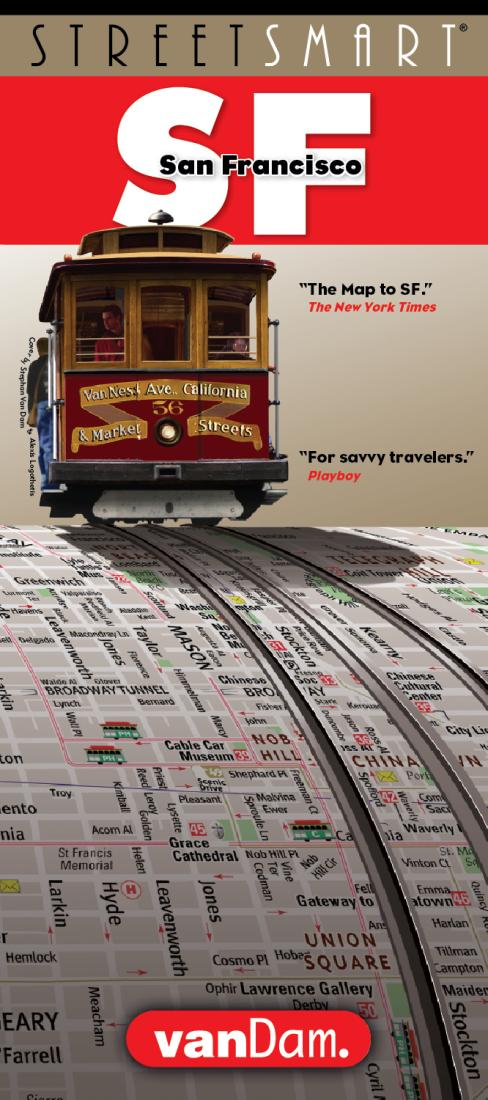 Cover of San Francisco, California StreetSmart Map