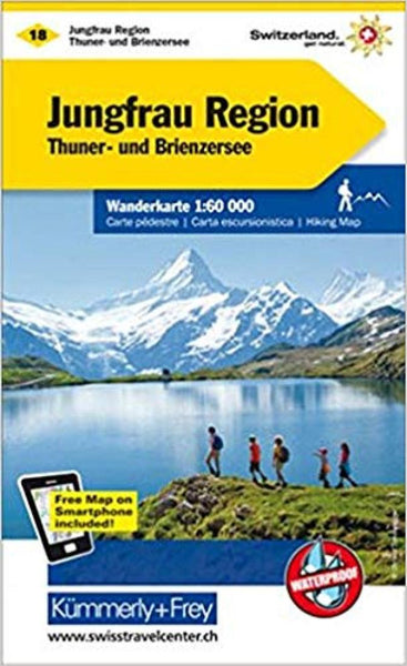Cover of Jungfrau Region, Switzerland Hiking Map by Kummerly + Frey