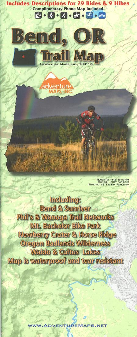 Cover of Bend, Oregon, Trail Map by Adventure Maps
